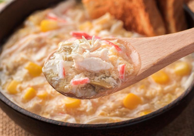 crab soup on spoon plain toast | lump crab recipes