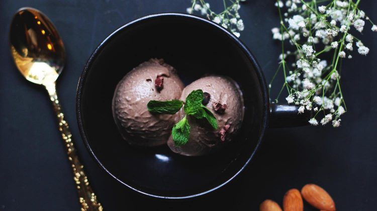 ice-cream on bowl beside spoon-vegan ice cream recipes-px-feature