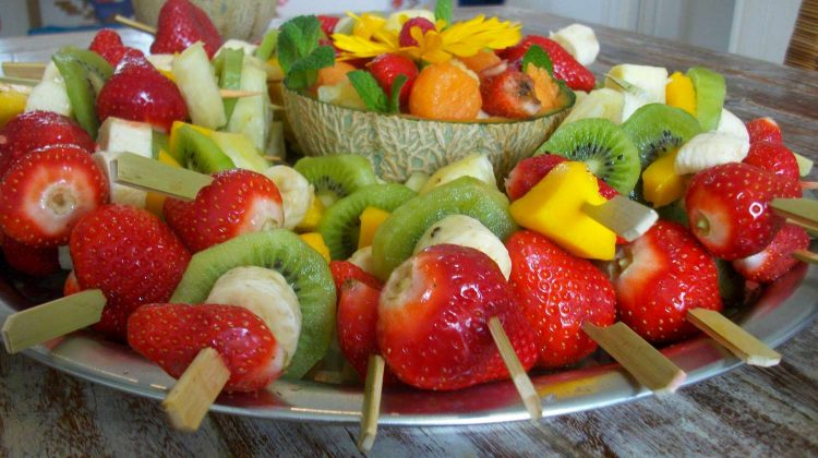 fruit skewers-christmas party food ideas-pb-feature