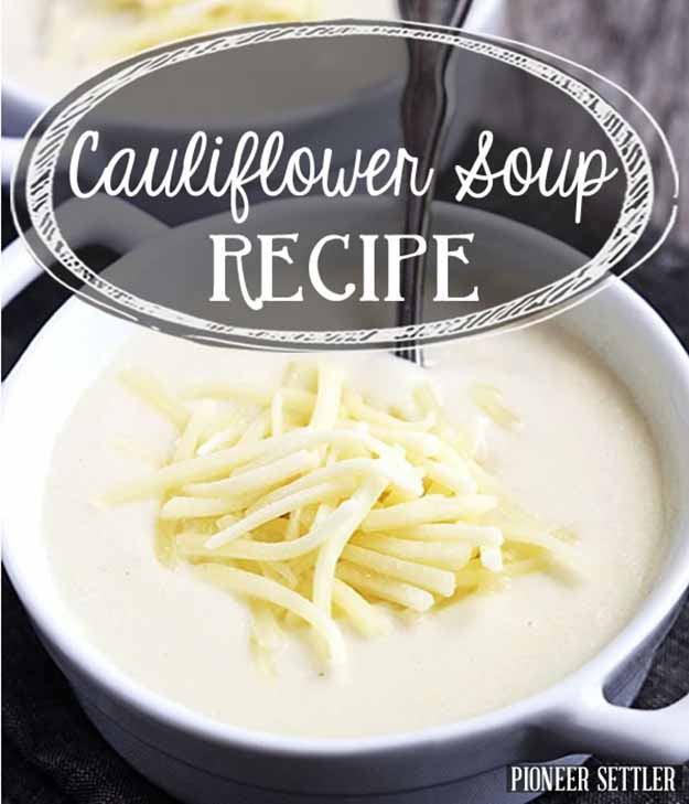 Healthy Cauliflower Soup | Easy Healthy Cauliflower Recipes You Need To Try Today | healthy cauliflower recipes indian