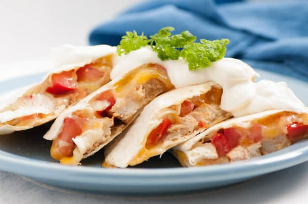 Canned Meat Recipe #1: Cheese and Chicken Quesadillas