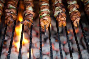 Chicken Kebabs with Papaya Chutney+ Wine Pairing