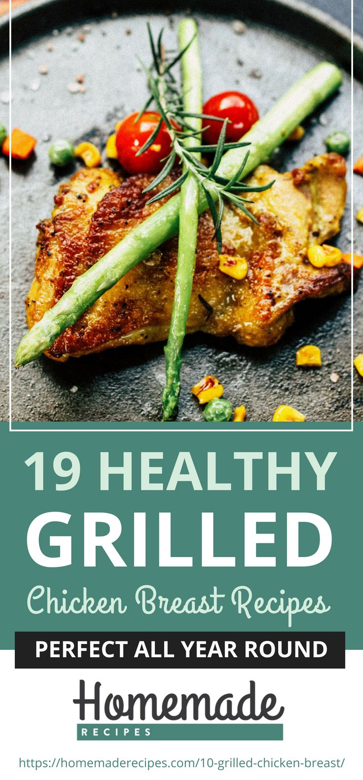 Pinterest Placard | 19 Healthy Grilled Chicken Breast Recipes Perfect All Year Round