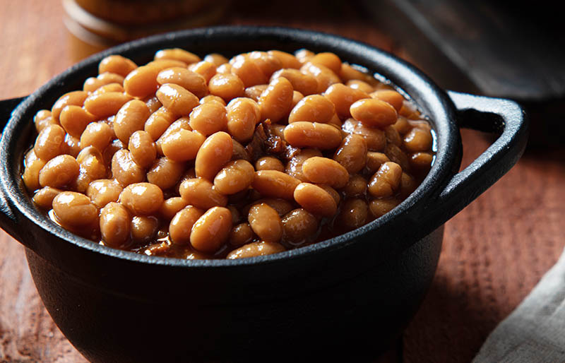 baked beans cast iron crock | soul food dinner menu