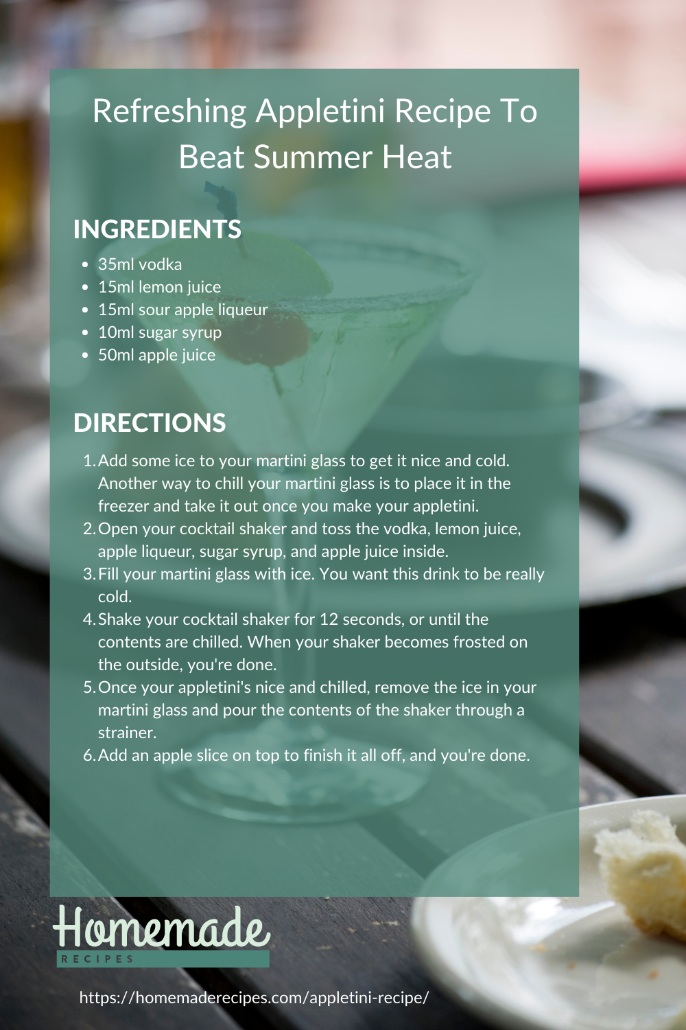 recipe card | Refreshing Appletini Recipe To Beat Summer Heat