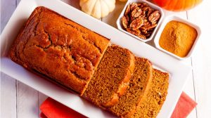 pumpkin bread with pecan and spice on the side | Pumpkin Spice Bread | Easy Recipe | Featured