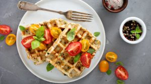 vegetable cheese savory waffles tomatoes herbs | Waffle Iron Recipes To Make With Your Waffle Maker | featured